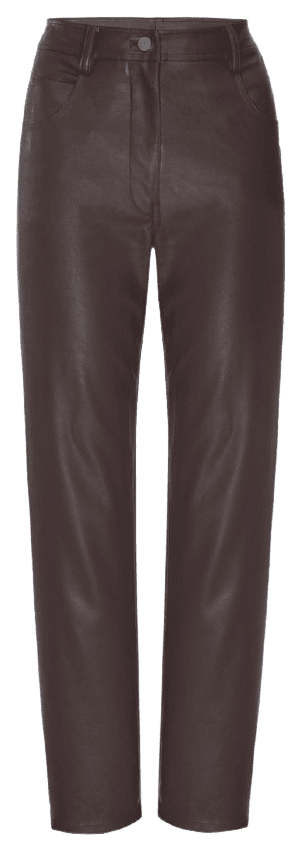 Brown Leather Junior Pant-Miaou