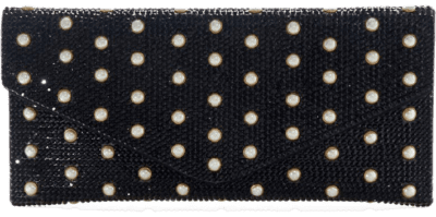 Black Couture Beaded Envelope Clutch-Judith Leiber