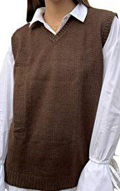 Brown Sweater Vest-TINKUY