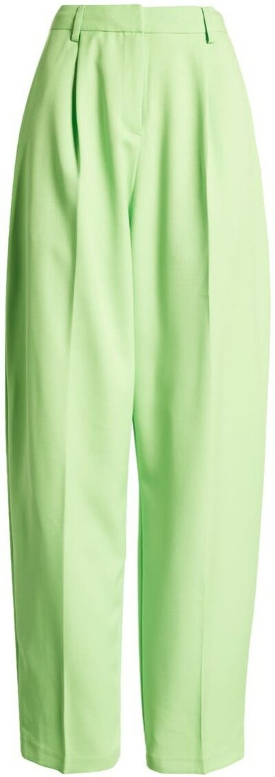 Mid Green Straight Leg Trousers-Topshop