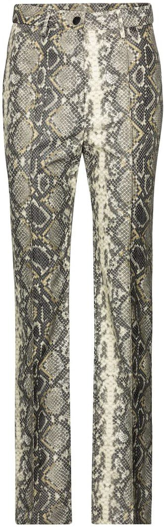 Robyn Snake-Effect Faux Leather Pants-Rotate