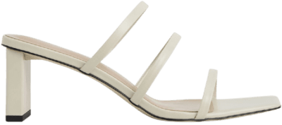 Chalk Strappy Blade Heel Mules-Charles & Keith