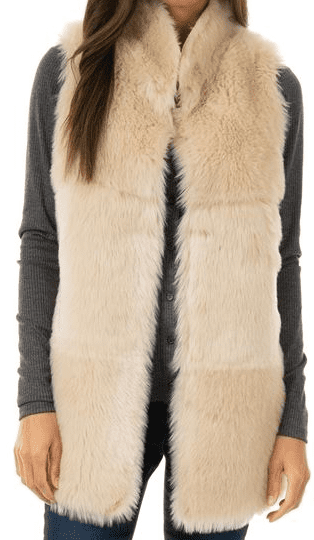 Ivory Faux Suede & Shearling Chalet Vest