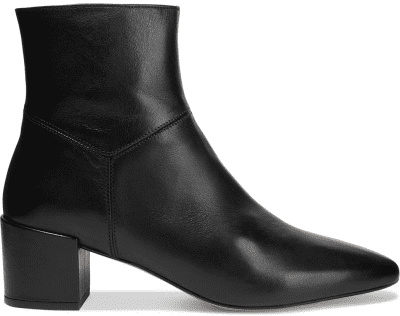 Black Hannah Leather Ankle Boots