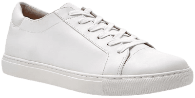 White Kam Lace Up Sneakers-Kenneth Cole