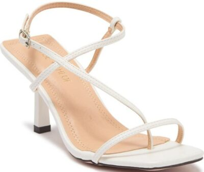 White Strappy Heeled Sandal-Chase And Chloe