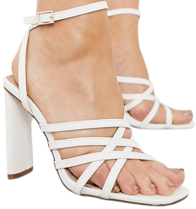 White Strappy Sandal-Truffle Collection