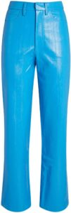 Blue Rotie Vegan Leather Trousers-Rotate