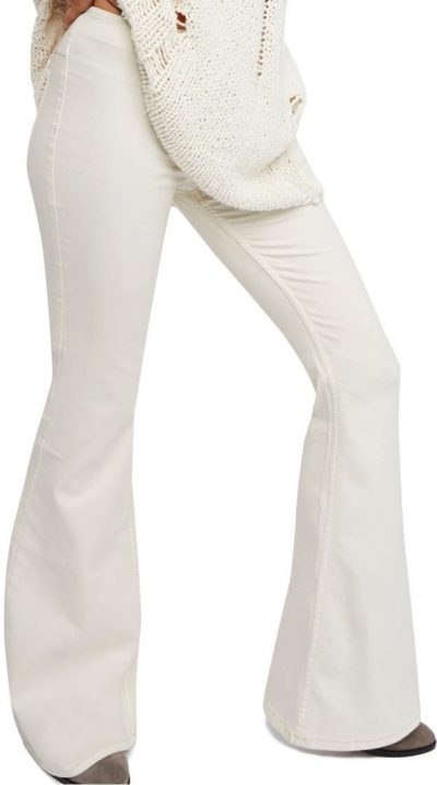 Ivory Penny Pull-On Flare Pants-Free People