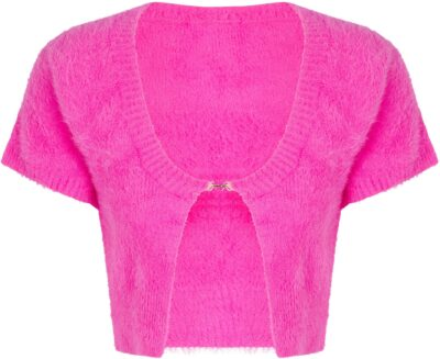 Pink La Maille Neve Cropped Cardigan-Jacquemus