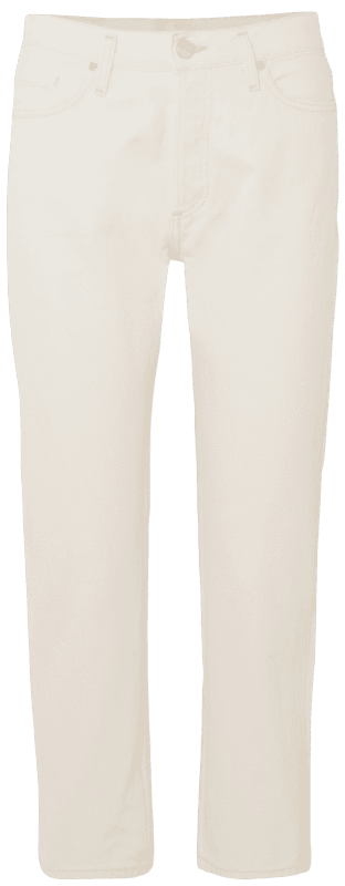 White The Low Slung Cropped Mid-Rise Straight-Leg Jeans