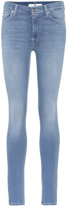 Blue Gwenevere High Waist Skinny Ankle Jeans-7 For All Mankind