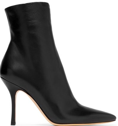 Black Gloria Leather Ankle Boots