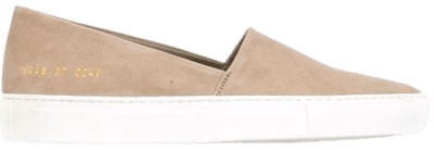 Beige Slip-on Sneakers-Common Pojects