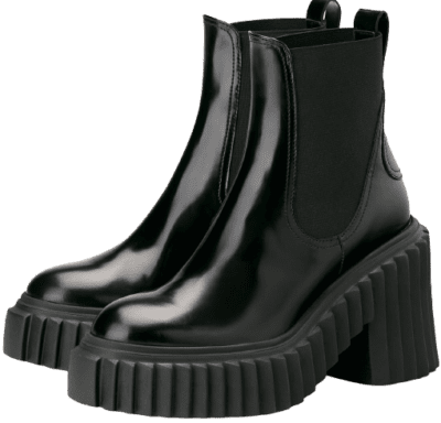Black Ankle Boot-AGL