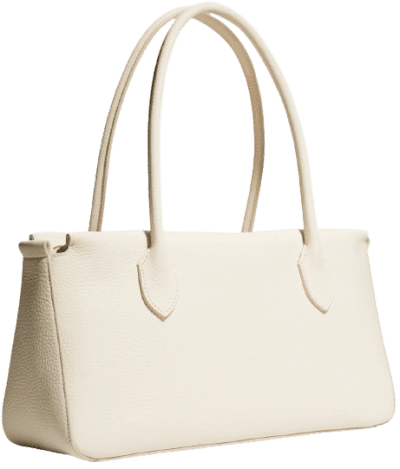 White Pebbled Leather Bag-The Row